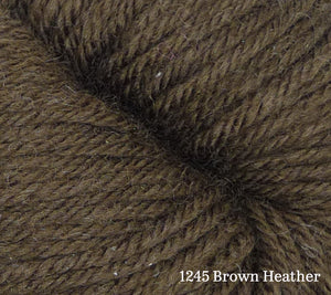 A close up of Estelle Worsted in 1245 Brown Heather