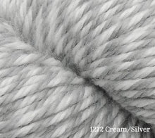 Load image into Gallery viewer, A close up of Estelle Worsted in 1272 Cream/Silver