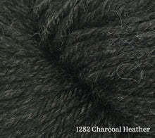 Load image into Gallery viewer, A close up of Estelle Worsted in 1282 Charcoal Heather