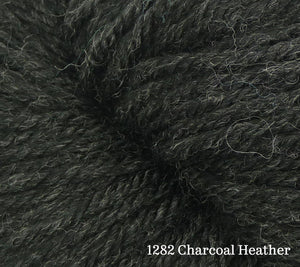 A close up of Estelle Worsted in 1282 Charcoal Heather