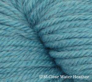 A close up of Estelle Worsted in 1285 Clear Water Heather