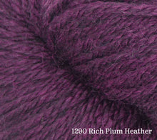 Load image into Gallery viewer, A close up of Estelle Worsted in 1290 Rich Plum Heather