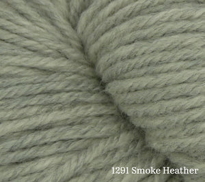 A close up of Estelle Worsted in 1291 Smoke Heather