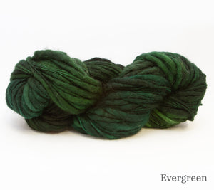 Fleece Artist Slubby Blue in Evergreen