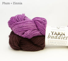 Load image into Gallery viewer, Fleece Artist Lil'Sport Yarn Buddies in Plum and Zinnia