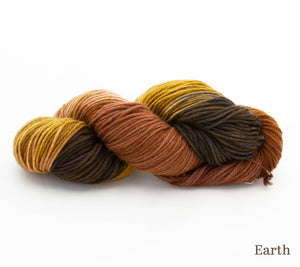A skein of Hand Maiden Cashmere 4 ply in Earth