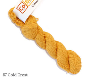 A skein of Hikoo CoBaSi in 57 Gold Crest