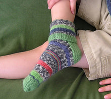 Load image into Gallery viewer, A close up of Cuffs socks with cuff folded over in multiple colours