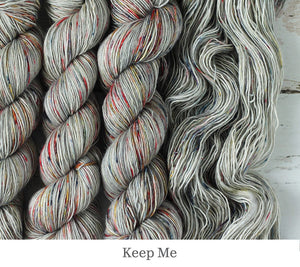 A close up of Julie Asselin Fino in Keep Me