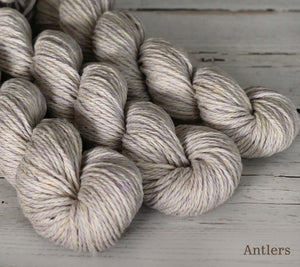 Three skeins of Julie Asselin Nurtured in Antlers