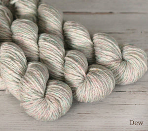 Three skeins of Julie Asselin Nurtured in Dew