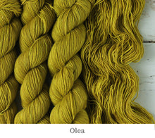 Load image into Gallery viewer, A close up of Julie Asselin Leizu DK in Olea