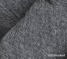 Load image into Gallery viewer, A close up of Juniper Moon Patagonia Organic Merino in 102 Smoked