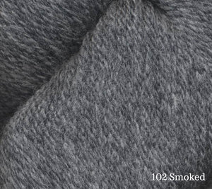 A close up of Juniper Moon Patagonia Organic Merino in 102 Smoked