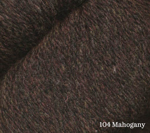 A close up of Juniper Moon Patagonia Organic Merino in 104 Mahogany