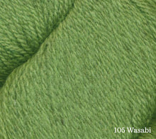 Load image into Gallery viewer, A close up of Juniper Moon Patagonia Organic Merino in 105 Wasabi