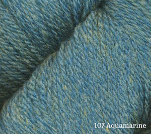 A close up of Juniper Moon Patagonia Organic Merino in 107 Aquamarine