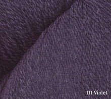 Load image into Gallery viewer, A close up of Juniper Moon Patagonia Organic Merino in 111 Violet
