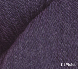 A close up of Juniper Moon Patagonia Organic Merino in 111 Violet
