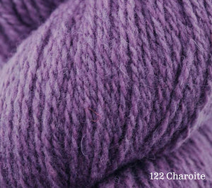 A close up of Juniper Moon Patagonia Organic Merino in 122 Charoite