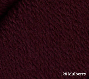 Juniper Moon Farm Patagonia Organic Merino in 128 Mulberry