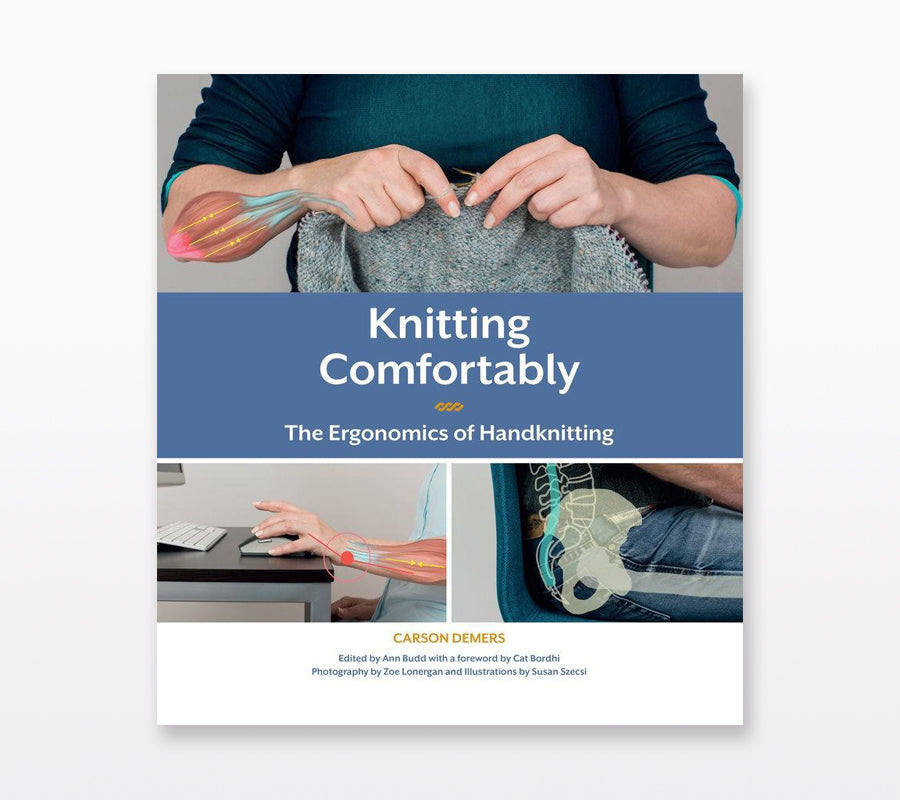 The book cover of Knitting Comfortably