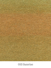 Load image into Gallery viewer, A close up of Lang Mohair Luxe Color in 013 Sunrise