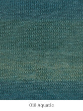 Load image into Gallery viewer, A close up of Lang Mohair Luxe Color in 018 Aquatic