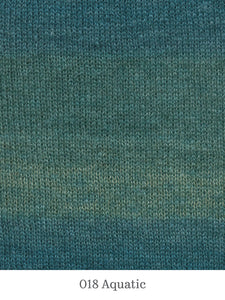 A close up of Lang Mohair Luxe Color in 018 Aquatic