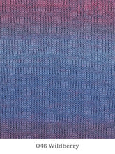 Load image into Gallery viewer, A close up of Lang Mohair Luxe Color in 046 Wildberry