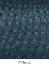Load image into Gallery viewer, A close up of Lang Mohair Luxe Color in 070 Indigo