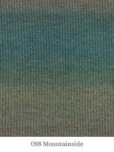Load image into Gallery viewer, A close up of Lang Mohair Luxe Color in 098 Mountainside