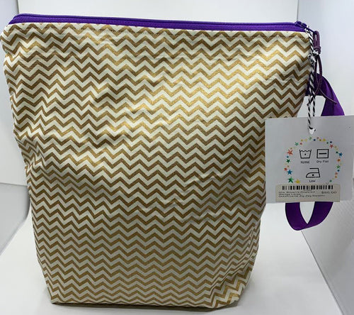 Mrs. Browns Bags: Gold and Cream Large