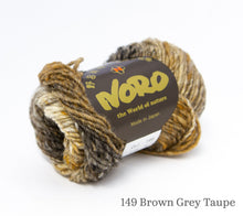 Load image into Gallery viewer, A ball of Noro Kureyon in 149 Brown Grey Taupe colourway
