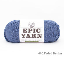 Load image into Gallery viewer, A ball of Epic Yarn in 420 Faded Sky