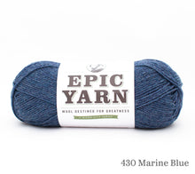 Load image into Gallery viewer, A ball of Epic Yarn in 430 Marine Blue
