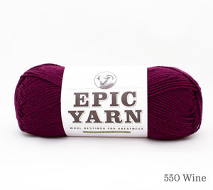 A ball of Epic Yarn in 550 Wine