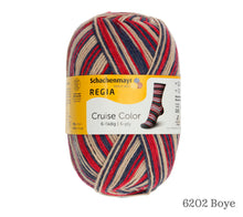 Load image into Gallery viewer, A ball of Schachenmayr Regia 6 Ply Cruise Color in 6202 Boye