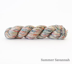 A skein of Rhichard Devrieze Peppino in Summer Savannah