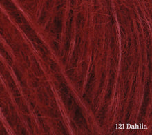 Load image into Gallery viewer, A close up of Rowan Alpaca Classic in 121 Dahlia