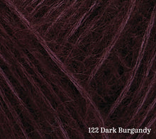 Load image into Gallery viewer, A close up of Rowan Alpaca Classic in 122 Dark Burgundy
