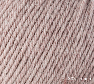 A close up of Rowan Alpaca Soft DK in 202 Trench