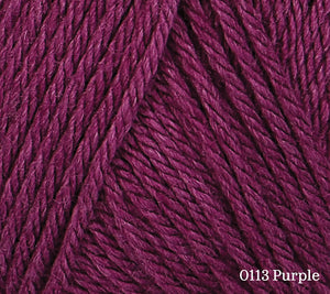 A close up of Rowan Baby CashSoft Merino in 0113 Purple