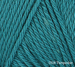 A close up of Rowan Baby CashSoft Merino in 0118 Turquoise