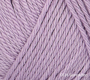A close up of Rowan Baby CashSoft Merino in 0114 Lavender
