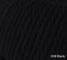 Load image into Gallery viewer, A close up of Rowan Big Wool in 008 Black