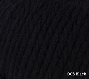 A close up of Rowan Big Wool in 008 Black