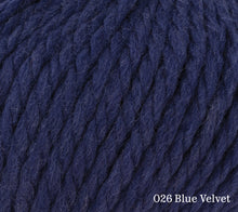 Load image into Gallery viewer, A close up of Rowan Big Wool in 026 Blue Velvet