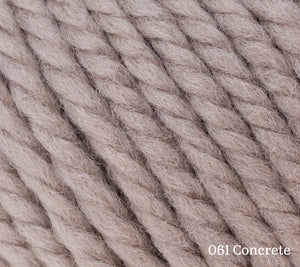 A close up of Rowan Big Wool in 061 Concrete