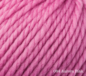 A close up of Rowan Big Wool in 084 Aurora Pink